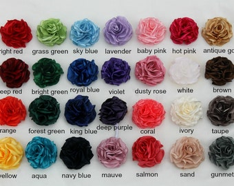"Fabric flower hair clip: ANY COLOR ""Sophia"""