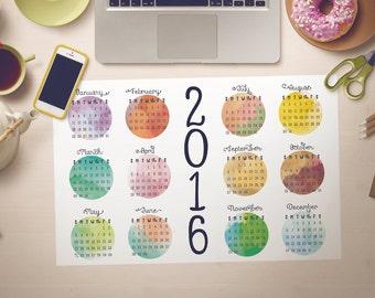 2016 Large Wall Calendar