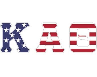kappa alpha theta usa letter sticker outside carcomputer exclusive