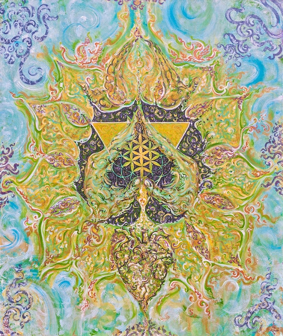 Anahata-Heart-Chakra - Canvas - Energised-Custommade-Unique Artprint and Poster