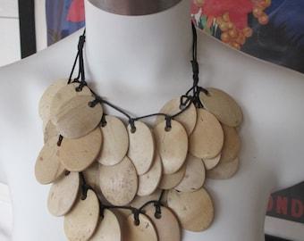 handmade coconut shell necklace