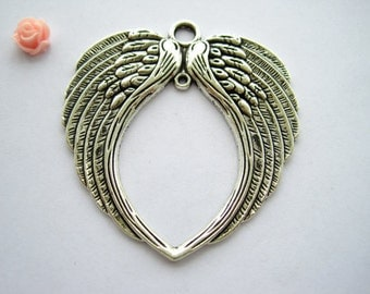2pcs Antique Silver Wing Charms Pendants Jewelry Accessories H29591