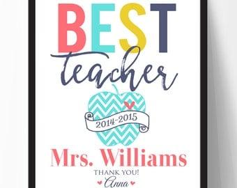 Teacher Gift, Personalized Teacher Printable, Teacher Appreciation Gift,  Teacher Digital File 8x10 JPG File