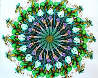 Karma Mandala Flower