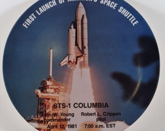 NASA STS-1 Columbia First Launch of America's Space Shuttle Commemorative Plate
