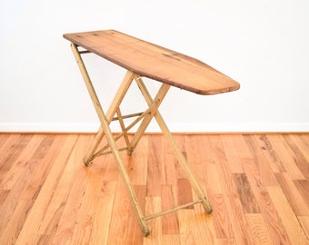 ironing board, iron board, wood ironing board, laundry decor, beautiful antique wood ironing board, primitive furniture, antique