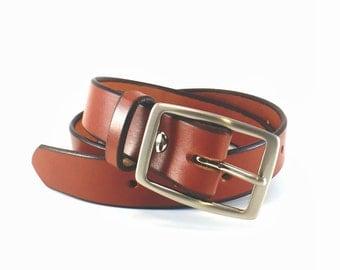 """Men's Belt / Brown Dress Belt / Thick Leather Belt / Bridle Leather Belt / Full Grain Leather Belt / 1.25"""" / Lifetime Guarantee / USA Made"""