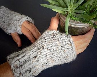 Bulky Wool Knitted Fingerless Gloves (FREE SHIPPING!!)