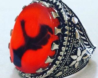 Imam Ali red agate ring