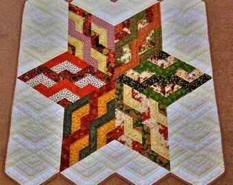 Strip Star Quilt Pattern