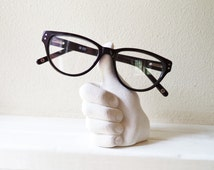 Thumbs up, desk accessory, holder for glasses, job well done, funky nerdy geek gift, teachers gift, paperweight