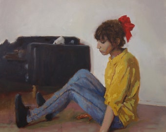 Original oil on canvas medium-size painting