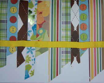 Set of 9 Patterned Strips Blank Cards