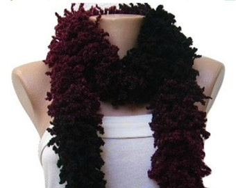 ON SALE Black, Red Scarf, Colorful Crochet Neckwarmer, Woman Accessory, For Her, Gift Idea, Ready to Ship
