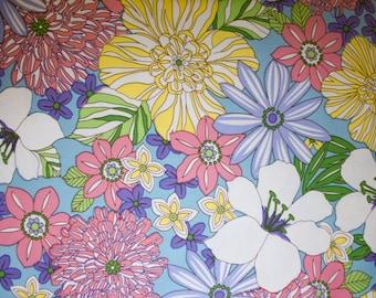 "Flowers Print #16 100% Cotton Quilting Fabric Robert Kaufman Designer Print 45"" Wide By The Half Yard"