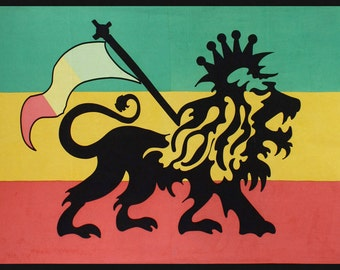 Rasta Lion Rastafarian Flag tapestry 60 x 90