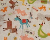 "READY TO SHIP:  Farm Animals Weighted Blanket, 42""x34"", 6.5 pounds"