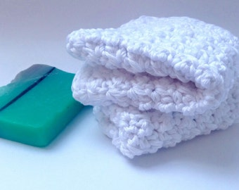Bamboo Wash Cloths - face cloths - Crocheted face cloths - Soft wash cloth - Baby wash cloth - Eco friendly -baby bath product