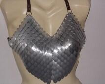 Scale Maille bra / bikini top. Bikini by scales and chainmail.