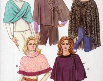 KNIT CAPES McCall's Pattern 4929 Misses Sizes 16-18 20-22
