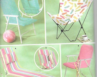 Simplicity LAWN FURNITURE COVERS Pattern 4184 Butterfly Lounge & Lawn Chairs