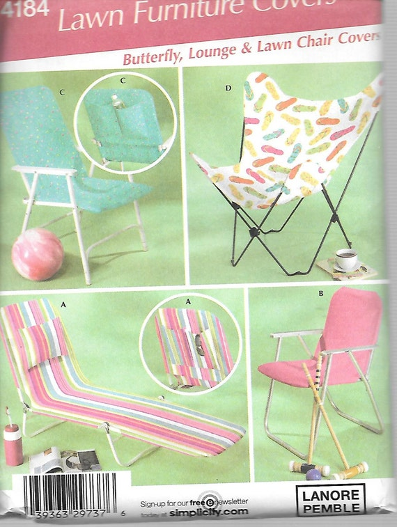 Simplicity Lawn Furniture Covers Pattern 4184 Butterfly Lounge