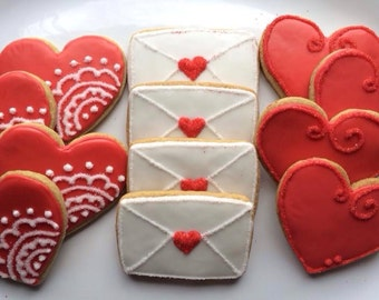 Signed, Sealed, Delivered Valentine Cookies-Gluten, Dairy, Egg, Nut, Soy Free