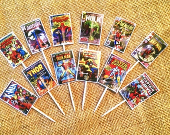 Comic Book Cupcake Toppers