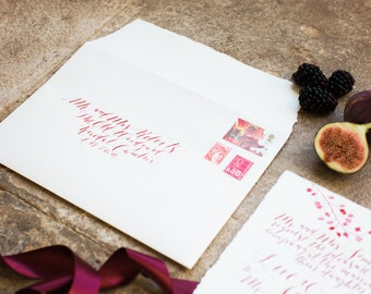 Envelope addressing calligraphy service