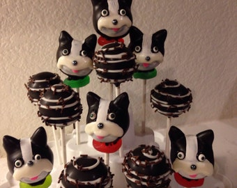 12 French Bulldog cake pops collection, dog lovers, Frenchie dog