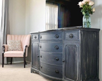 Graphite Collection- Buffet, Dresser, Painted Furniture Denver and Colorado Springs, Refinished Furniture, Rustic, Shabby Chic, Farmhouse
