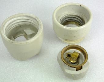 Vintage Soviet Light Bulb Porcelain Socket
