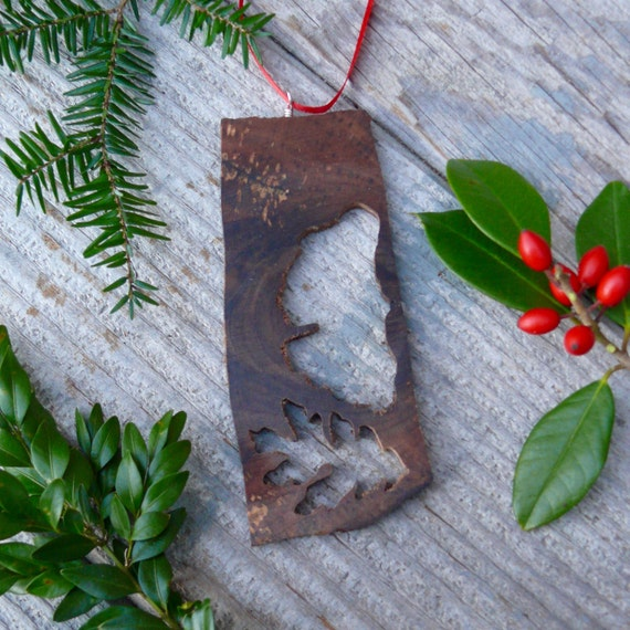 Rustic wood christmas ornaments, Natural Christmas wood ornament, Oak leaf ornament, Natural wood Christmas ornament, Eco Christmas