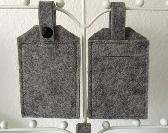luggage tag suitcase tag grey felt