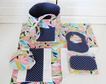 Doll Diaper Bag with Blanket, Burp Cloth, Wipes Case, Diaper, & Bib