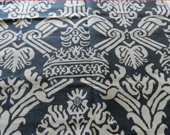 Vervain Designer Fabric Charcoal Gray Remnant 1 + Yard Modern