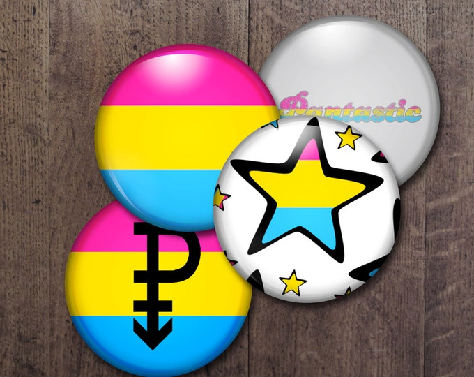 Pansexual Pride Buttons