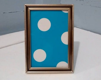 Vintage, Mid Century Modern, 3 x 5, Metal, Picture, Frame