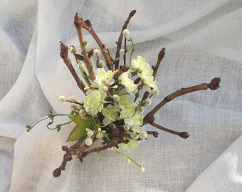 Bundle of Chestnut tree branches with Blossoms- Arrangement -Spring - Table decor - Easter- Cherry