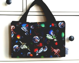 NEW - Outer Space Art Caddy // Galaxy Organiser // Astronaut Travel Art Wallet // Wipe clean artist case