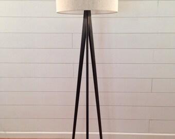 Floor Lamp - Tripod - Ebony Black Finish