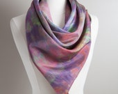 Hand Dyed Silk Scarf - Sq...