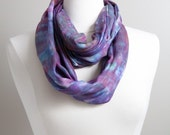 Purple Scarf - Hand Dyed ...
