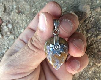 Sterling Silver Ocean Jasper Pendant