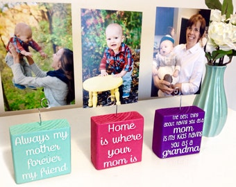 Wire Photo Holder- Mothers Day Gift- Wire Picture Holder- Picture Holder- Photo Holder- Wood and Wire Picture Holder- Wood and Wire Frame