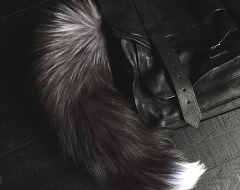 FAUX Fox Tail Keychain (large)