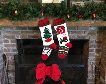 Hand Knitted Wedding Gift Christmas Stocking