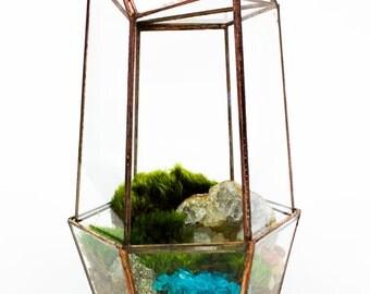 Moss Terrarium // Faceted // Geode