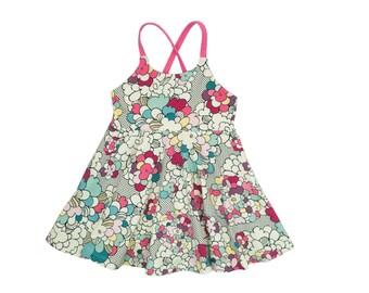 Festival Dress, Girls Dress, Baby Dress, Toddler Dress, Beach Dress, Summer Dress, Twirling Dress, Boho Dress,  Pop Art Floral Dress