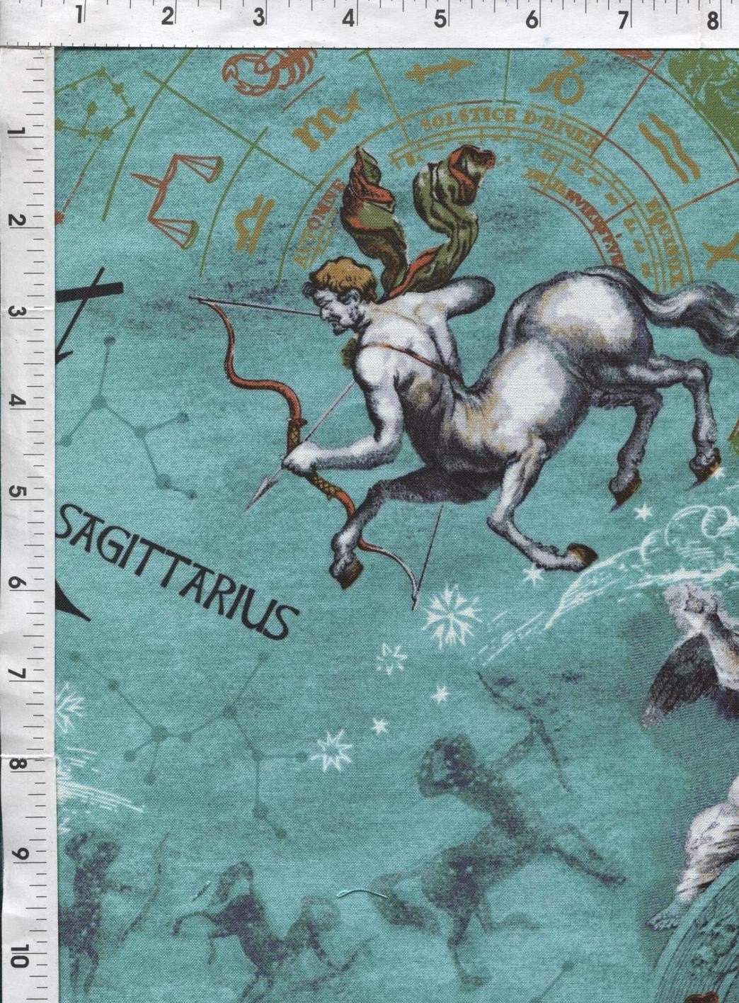 Sagittarius fabric by the yard astrology fabric horoscope for Astrology fabric